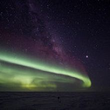 Aurora Australis at the South Pole. Image Credit: NSF