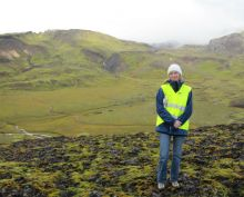 Allyson Anderson Book conducts geothermal field studies in Iceland.