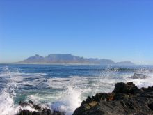View towards Cape Town from Robben Island.