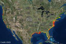 Screenshot of the USGS Coastal Change Hazards Portal map