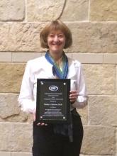 The 2016 GeoCUR Undergraduate Research Mentor Award Winner - Wendy Borhson.