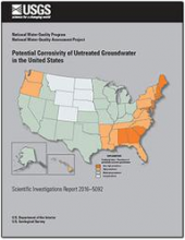 """Cover of the July 2016 USGS Report on """"Potential corrosivity of untreated groundwater in the United States"""""""