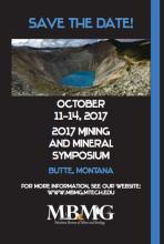 Montana Bureau of Mines and Geology Symposium Flyer
