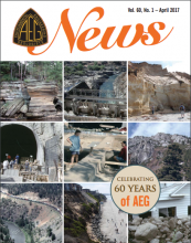Cover of the Recent Issue of AEG News