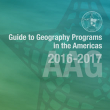 Promotional Artwork for AAG's Guide to Geography Programs in the Americas