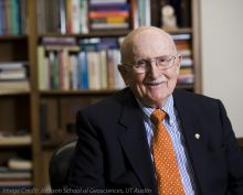Dr. Peter T. Flawn, president emeritus, UT Austin. Jackson School of Geosciences, UT Austin