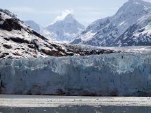 A glacier meets the ocean at Glacier Bay National Park and Preserve.