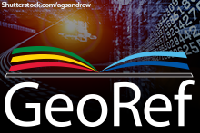 GeoRef Information Services logo. Background image:©Shutterstock.com/agsandrew