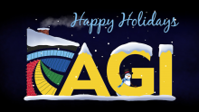 Happy Holidays graphic from AGI.