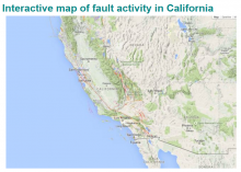 Interactive map of California's fault lines