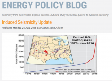 Screen Shot of the AAPG Energy Policy Blog