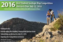 Flyer for the Best Student Geologic Map Competition