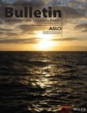 Cover of the August 2016 Issue of the Bulletin of Limnology and Oceanography with an image of the ocean at sunset.