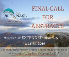 AEG NASL Meeting Flyer which will occur June 2017 in Roanoke, VA