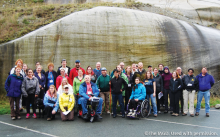 A picture from the first fully-accessible field trip hosted by the IAGD at the GSA Annual Meeting in 2014.