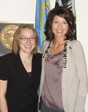Vicki Bierwirth (left) with Representative Kristi Noem from South Dakota.