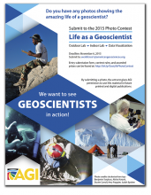 Life as a Geoscientist Photo Contest Flyer