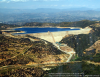 Photo taken from a helicopter of the Olivenhain Dam and reservoir near Escondido, CA. Photo by Phil Konstantin