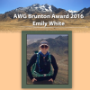 AWG's 2016 Brunton Award WInner Emily White