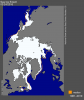 Arctic sea ice extent for March 24, 2016, was the lowest on record. Credit: NSIDC