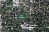 Fig. 2 Landsat TM imagery showing the Stoughton, Wisconsin area on July 19, 2005. This image uses blue, green, and red EM radiation bands in a natural color image