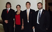 From left to right: David McCormick, Fall 2006 Intern Rachel Bleshman, Sargon de Jesus, and Paul Schramm.