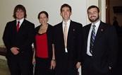 From left to right: David McCormick, Fall 2006 Intern Rachel Bleshman, Sargon de Jesus, and Paul Schramm.