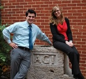 Joey Fiore (left) and 2009 Fall Intern Mollie Pettit (right).