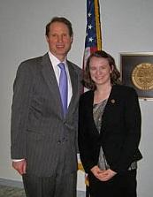 Kiya (right) with Senator Ron Wyden from Oregon.